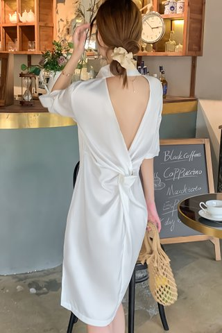 BACKORDER - Jernise Back Knot Shirt Dress