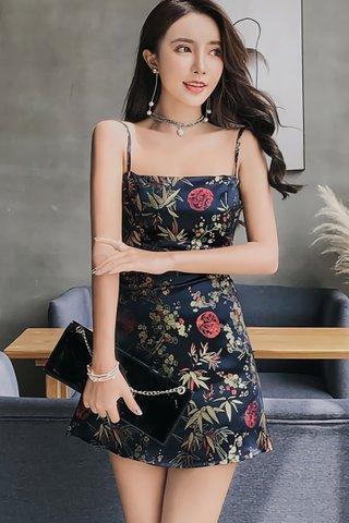 BACKORDER - Joena Camisole Mini Dress In Black