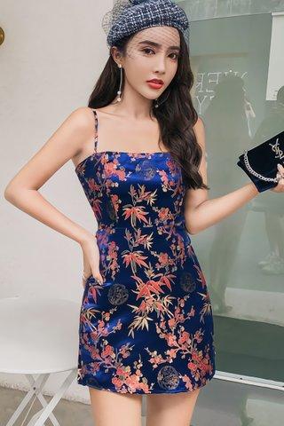 INSTOCK - Joena Camisole Mini Dress In Blue