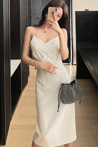 BACKORDER - Jolivia Cut Out Criss Cross Midi Dress
