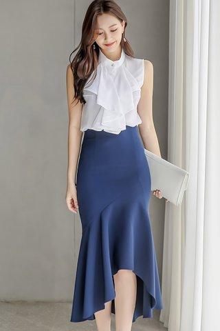 BACKORDER - Kaelene Layered Foldover Top With Skirt Set