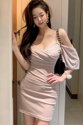 BACKORDER - Kayer Cold Shoulder Mini Dress