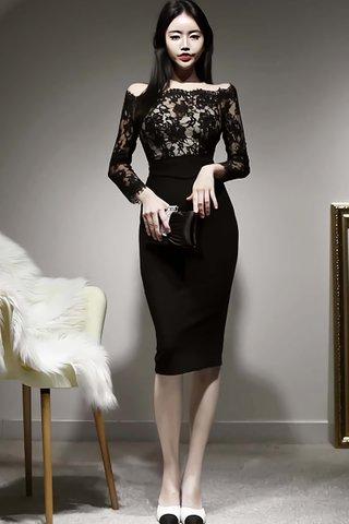 BACKORDER - Manrana Off Shoulder Lace Dress