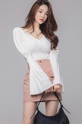 BACKORDER - Maris V-Neck Top With Skirt Set