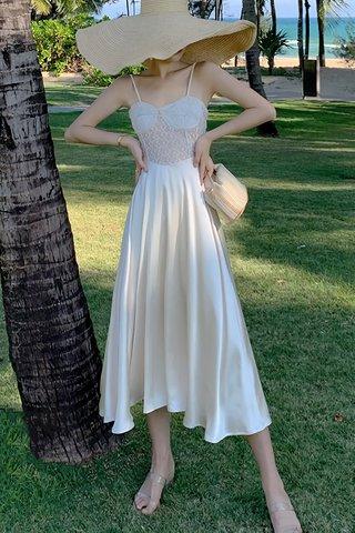 BACKORDER - Nelvin Bustier Lace Dress