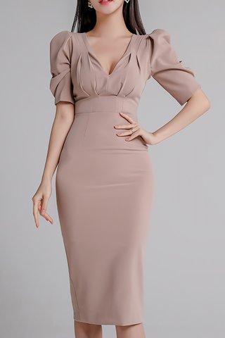 BACKORDER - Pauren V-Neck Panelled Dress