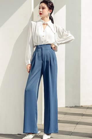 BACKORDER - Rosane High Waist Pant In Royal Blue