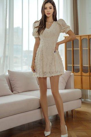 BACKORDER - Sierra V-Neck Furry Mini Dress