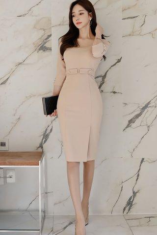 BACKORDER - Treva Sleeve Side Slit Dress