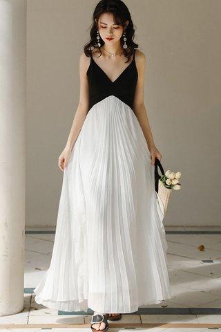 BACKORDER - Velra Cascade Ruffle Pleat Dress