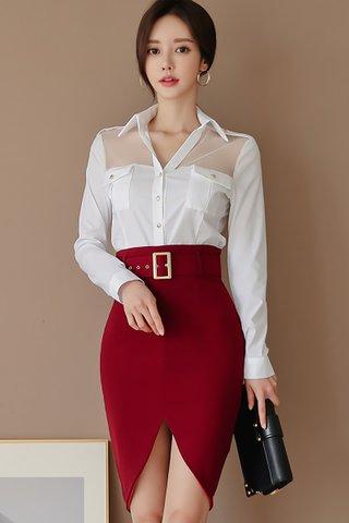 BACKORDER - Vickis Shirt With Skirt Set
