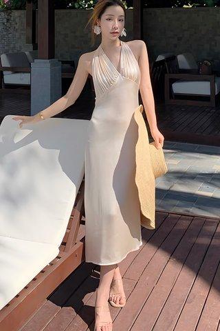 BACKORDER - Voiley V-Neck Bareback Dress