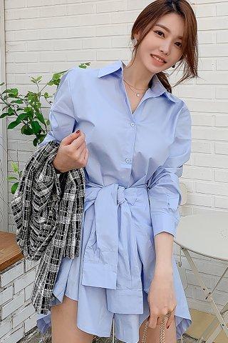 BACKORDER - Wivien Waist Tie Shirt Dress