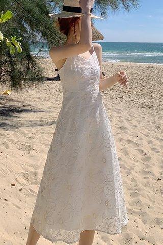 BACKORDER - Ellmira Floral Crochet Camisole Dress