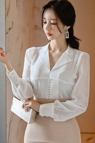 BACKORDER - Janese Sleeve Pearl Shirt