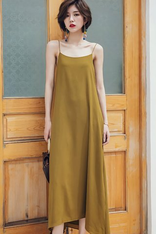 BACKORDER - Melrita Mini Knot Camisole Dress In Olive Green