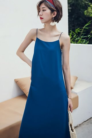 BACKORDER - Melrita Mini Knot Camisole Dress In Royal Blue