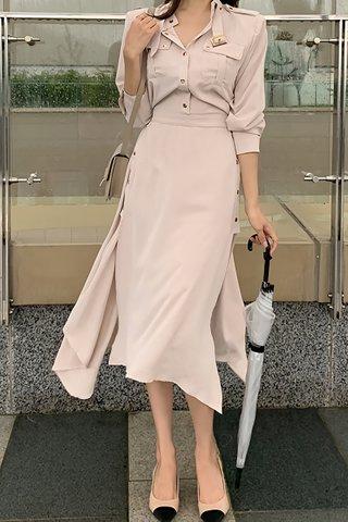 BACKORDER - Pelmer Sleeve Button Down Dress