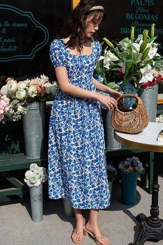 BACKORDER - Pelrina Floral Back Criss Cross Dress