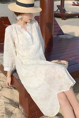 BACKORDER - Skyve Floral Crochet Sleeve Dress