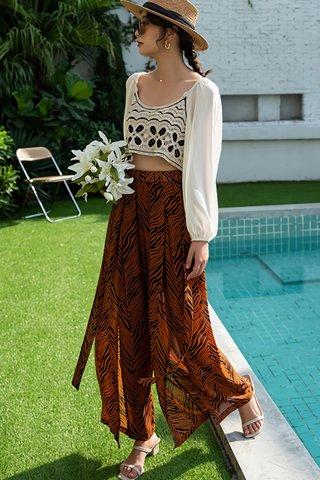 BACKORDER - Sulyn Relaxed Fit High Waist Pant In Brown