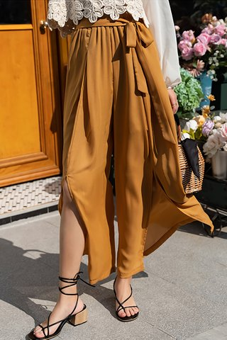 BACKORDER - Sulyn Relaxed Fit High Waist Pant In Mustard