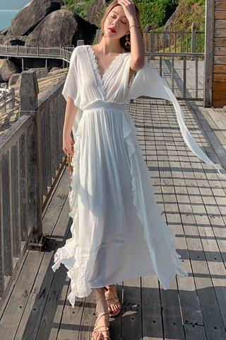 BACKORDER - Berlis Cascade Ruffle Dress