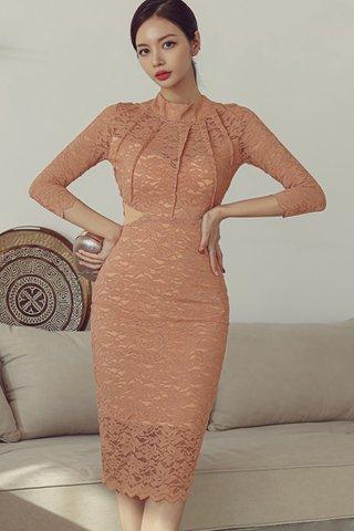 BACKORDER - Jenora Lace Ribbon Tie Dress