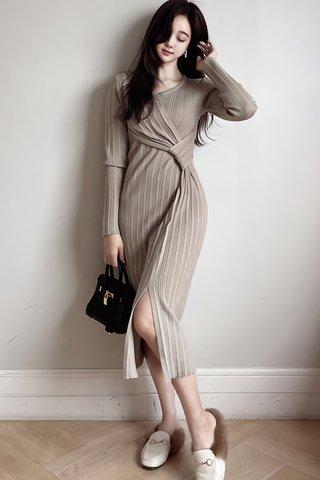 BACKORDER - Quesha V-Neck Pleat Dress