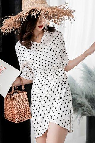 INSTOCK - Raelin Polka Dot Asymmetrical Dress