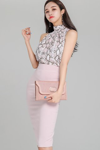 INSTOCK - Chovian Print Top With Skirt Set