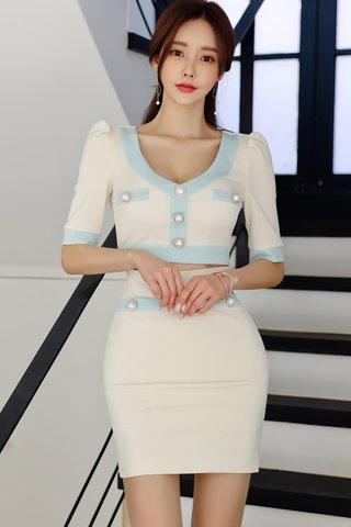 BACKORDER - Kancy Colorblock Cutout Mini Dress