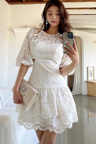 INSTOCK - Alyssa Eyelet Waist Cutout Dress