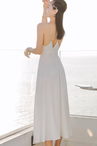 BACKORDER - Amira Criss Cross Maxi Dress In White