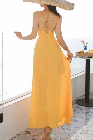 BACKORDER - Amira Criss Cross Maxi Dress In Yellow