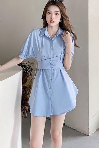 BACKORDER - Caslyn Shirt Dress With Short Set