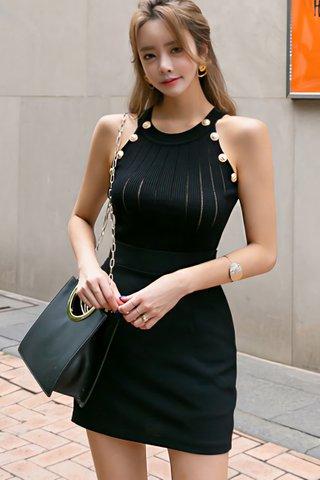 INSTOCK - Kareen Round Neck Knit Top In Black