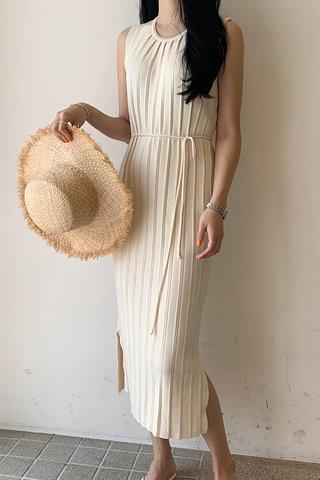 INSTOCK - Kelanie Sleeveless Knit Dress In Cream & Brown