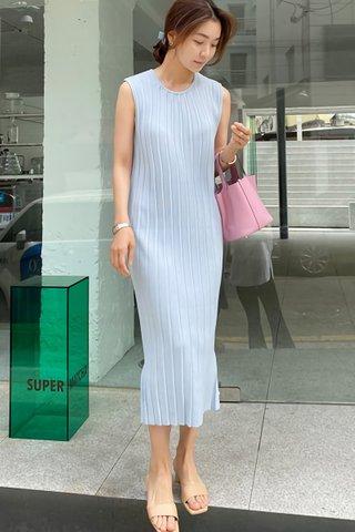 INSTOCK - Kelanie Sleeveless Knit Dress In Sky Blue