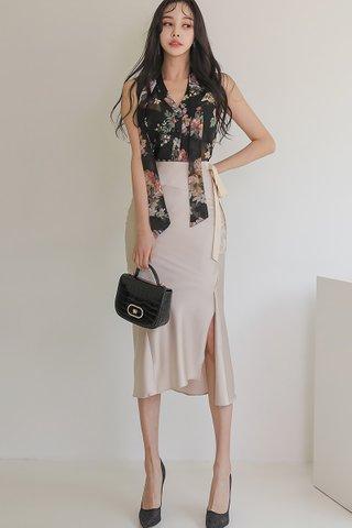 BACKORDER - Kersa Floral Top With Skirt Set