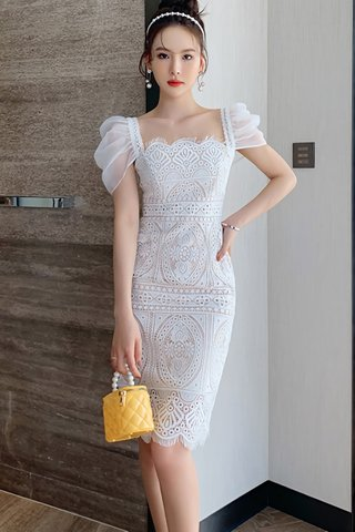 INSTOCK - Angie Crochet Lace Overlay Dress