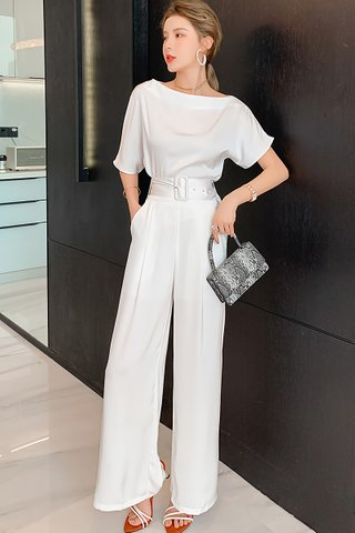 BACKORDER - Brielle Boat Neck Top With Pant Set