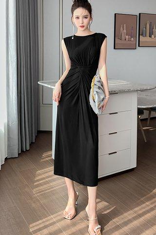 BACKORDER - Kielyn Ruched Midi Dress