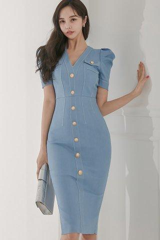 BACKORDER - Lynna Single Breasted Dress