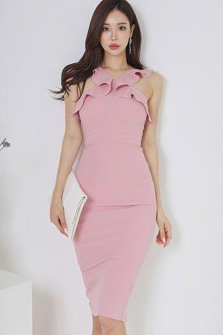 BACKORDER - Astella Ruffle V-Neck Dress