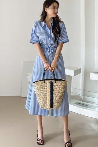 BACKORDER - Feronica Stripe Shirt Dress