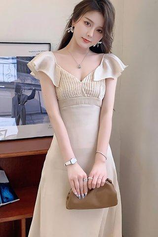 BACKORDER - Jenia Sweetheart Ruffle Sleeve Dress