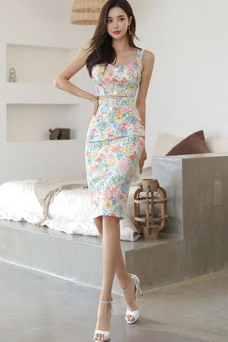 BACKORDER - Kelene Floral Top With Skirt Set