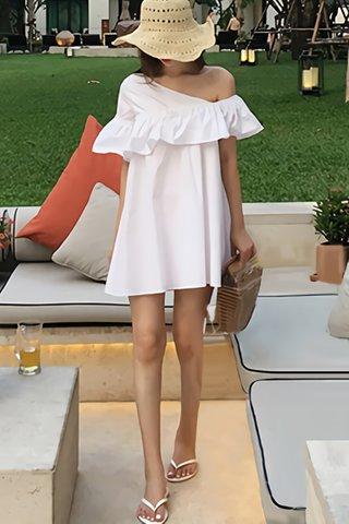 BACKORDER - Avery One Shoulder Ruffle Mini Dress