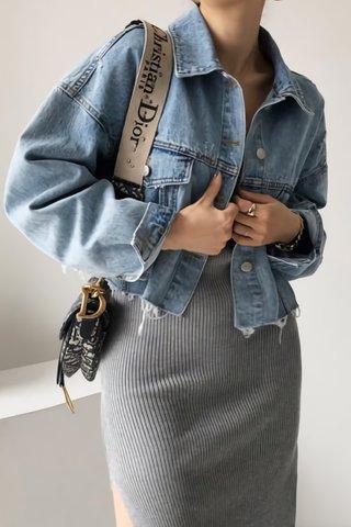 BACKORDER - Hazel Oversized Denim Outerwear
